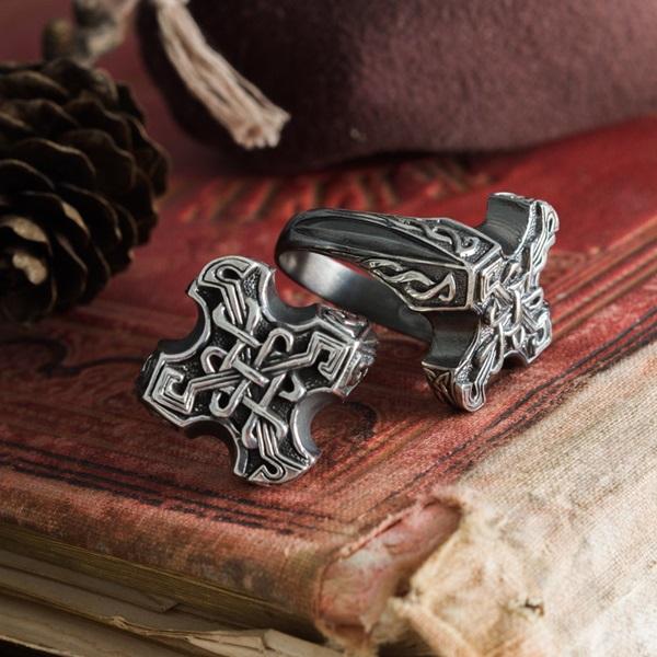 Odin Cross High Cross Ring Celtic Knot Ring Mastenarium