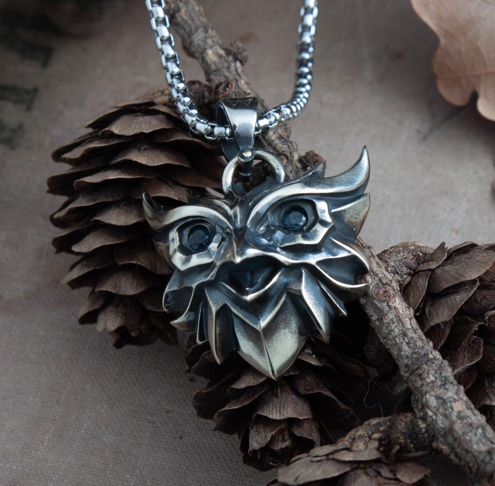 Owl medallion pendant